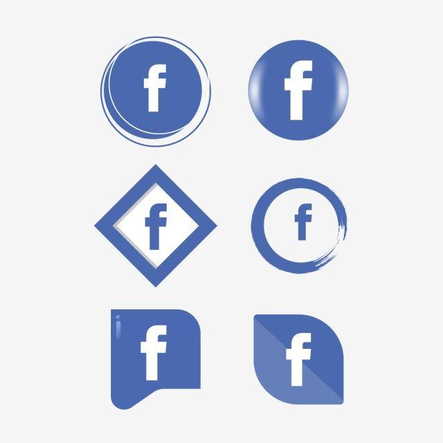 Facebook Icon Logo Collection Set Social Media Vector Illustrator Fb Icon Fb Logo Facebook Icons Fb Icons Social Icons Png And Vector With Transparent Backgr Facebook Icons Social Icons Logo Collection