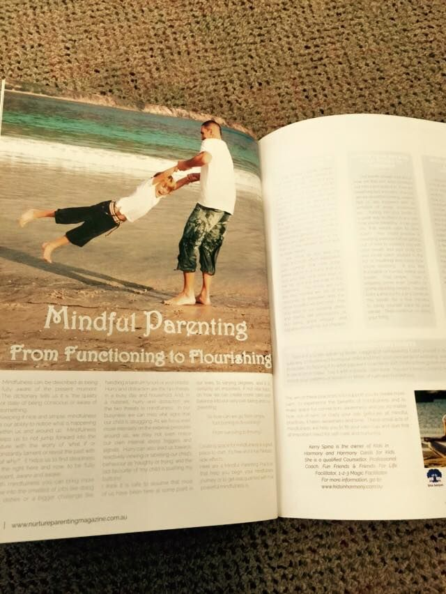 One of my articles in the Nurture Magazine.  I love sharing the message of mindful parenting!  From Functioning to Flourishing.