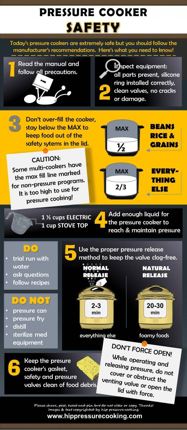 Pressure Cooker Safety Tips Infographic