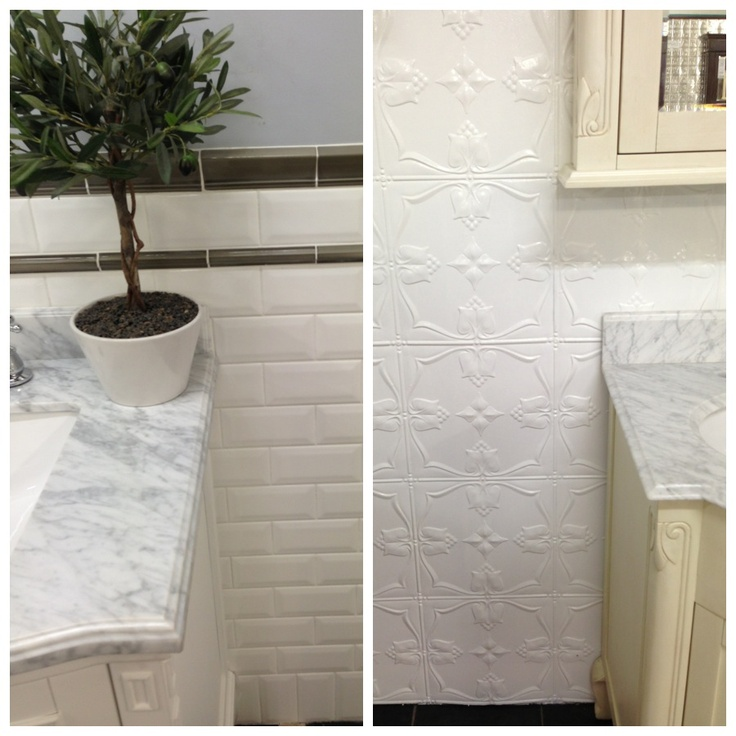 Which do you prefer? Tiled walls or pressed metal for your bathroom?