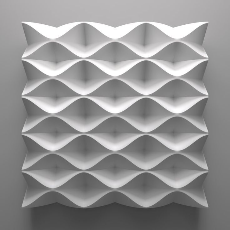 Origami tesselation pattern great for Modular 3D wall surface modul tile with fluid curved pattern isiope: no. 2141- Jonas Schmidt - www.isiope.com