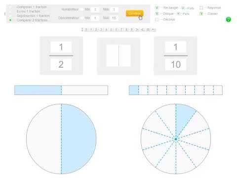 Exercices interactifs sur les fractions