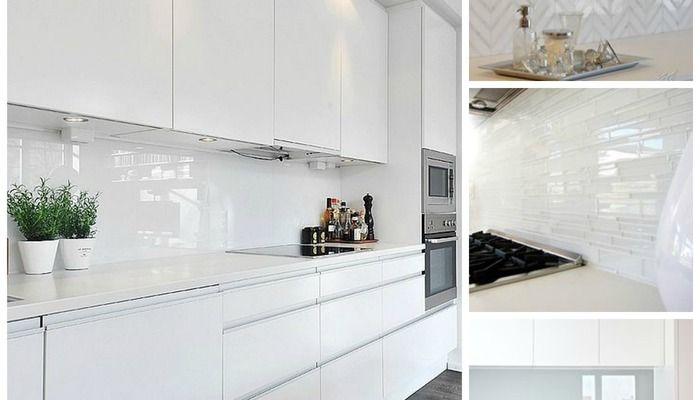Tag For White Gloss Kitchen Splashback Ideas Kitchen Design With