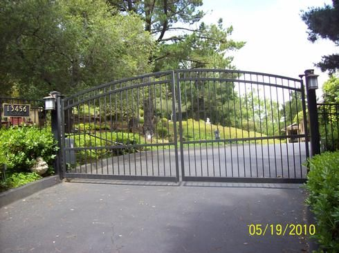 395 Arched Gate At Www Ccoigateandfence Com Driveway Gate