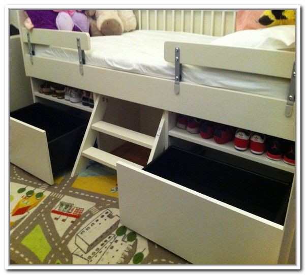 Toddler Bed With Storage Underneath                                                                                                                                                                                 More