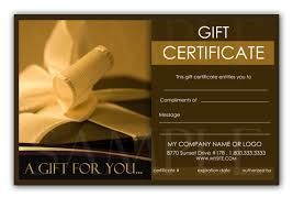 Image result for gift certificate template word