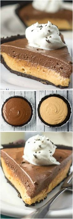 This Chocolate Peanut Butter No Bake Pie makes a super easy no-bake dessert for a holiday dinner or party. However, with all the chocolatey peanut butter deliciousness no one will ever know that it was made with greek yogurt. via @flavormosaic