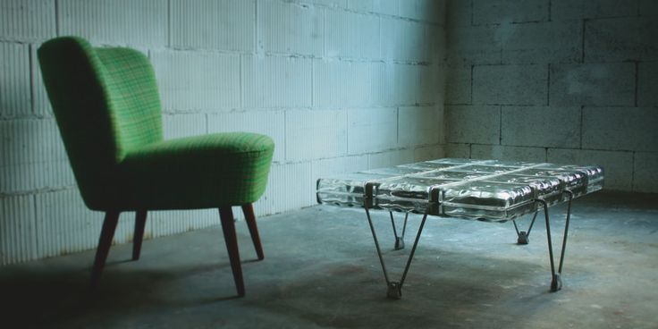 """""""cloudius""""+Glas-Beton-Couchtisch+von+tritschler+glasundform+auf+DaWanda.com"""
