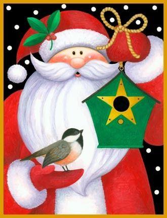 Santa Birdhouse -- by Stephanie Stouffer, copyright 2015
