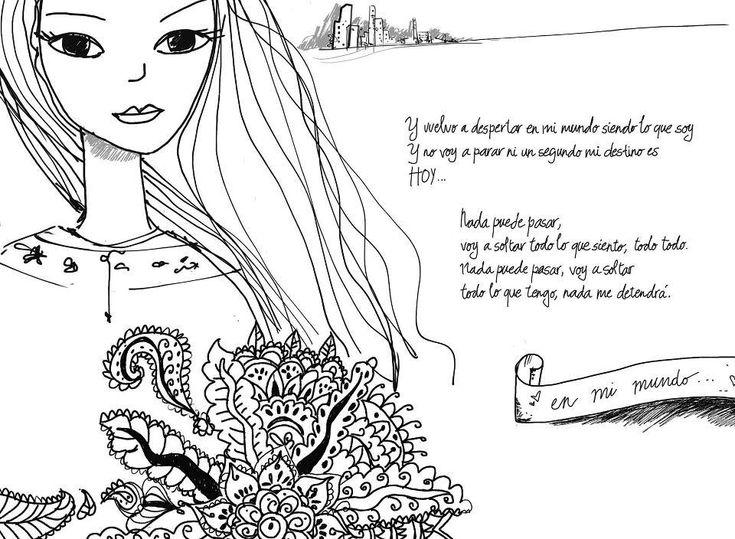 dibujos muy lindos qe saque de interne de la serie llamada violetta los dibujos de su diario