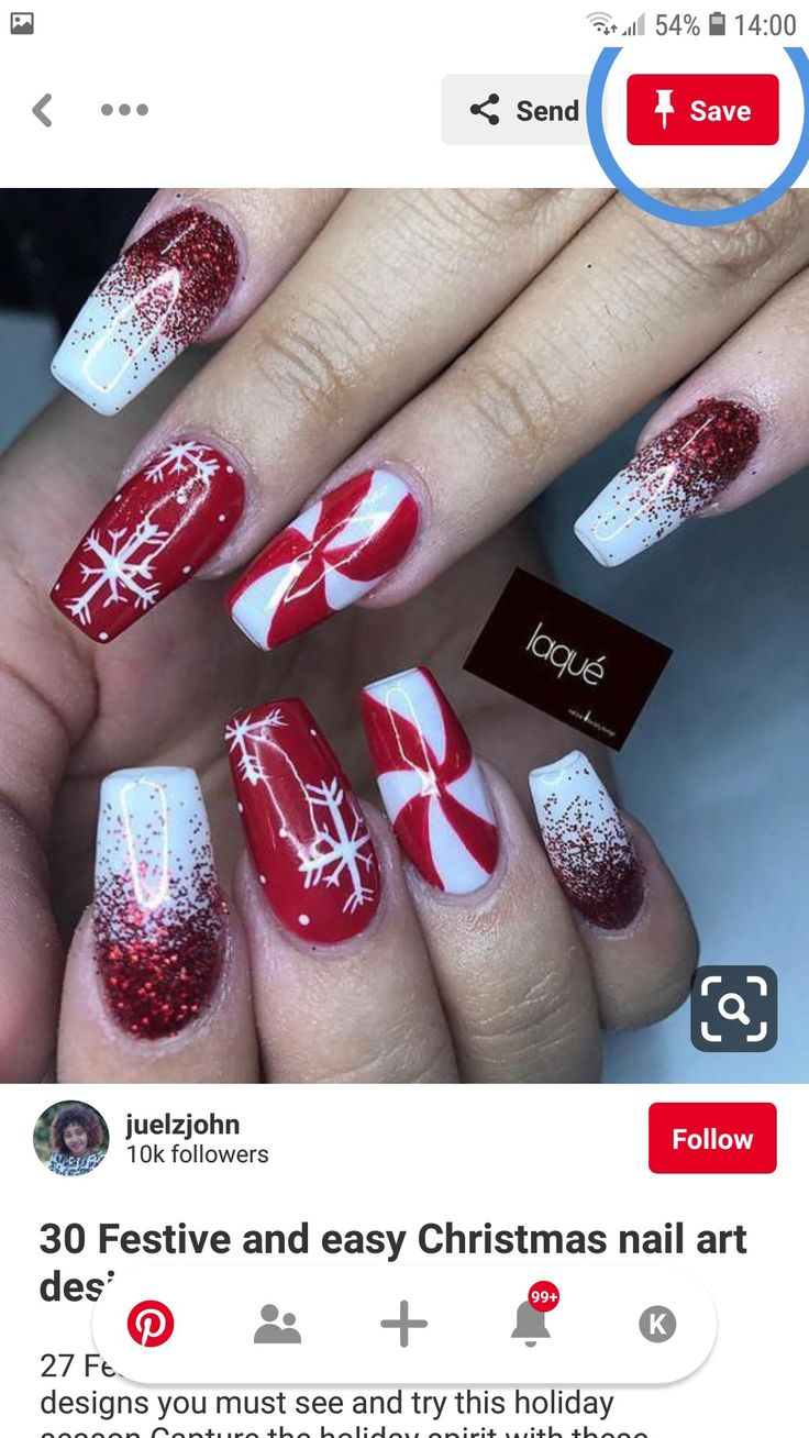 Pin by Kimberly Farrugia on nails in 2020 Christmas nail