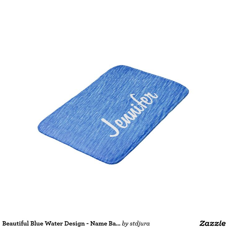 Beautiful Blue Water Design - Name Bath Mat Bath Mats