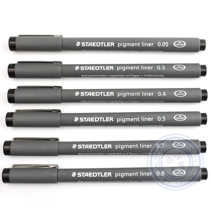 Black Fineliners Pens Fine Line Pen Fine Liner Drawing Black Pigment Ink Sizes