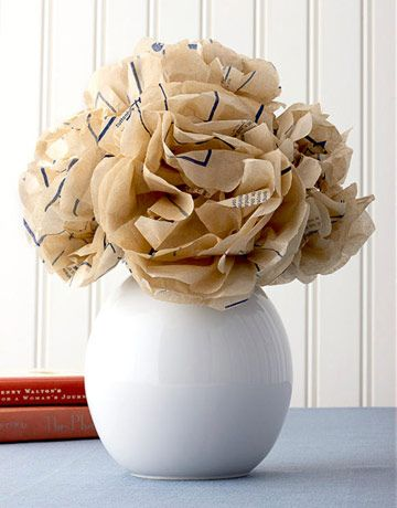 This elementary school craft takes a sophisticated edge when fashioned from tissue-thin sewing paper to create Sewing Pattern Flowers.