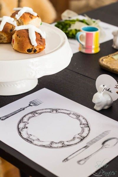 Free Printable Placemat with Hot Crossed Buns