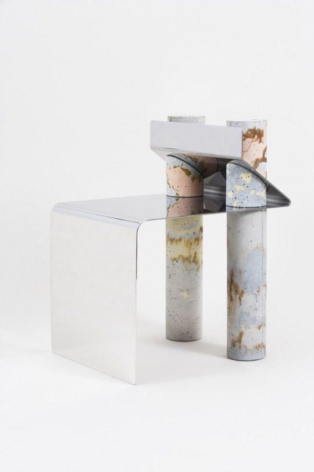 Objets et mobilier en béton et métal par le studio de design Pettersen & Hein - Journal du Design