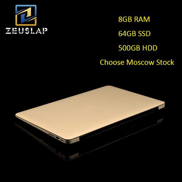 Estoque rússia 14 polegadas 8G RAM 64 GB SSD 500 GB HDD Quad Core do Windows 10 Sistema de 1920X1080 P FHD Ultrafinos Computador Notebook Laptop