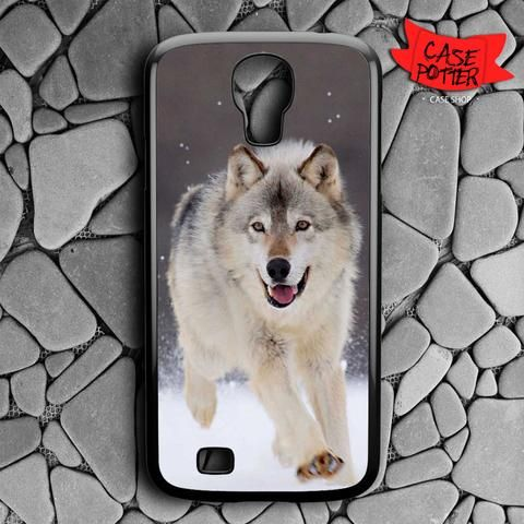 Wolf Run On White Snow Samsung Galaxy S4 Black Case