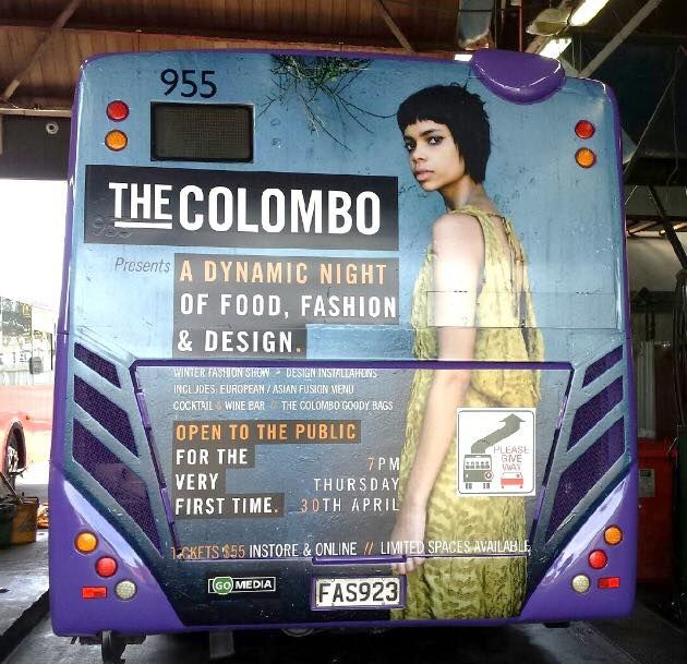 April 30th the Colombo presents a night of fashion, food and design! Tickets $55 from Coopers and Co and online!