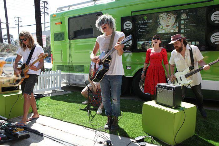 Spotify's Big Green BusBig Green, Emergency Artists, Green Bus, Music Tours, Living Music, Boom Boxes, Bacardi Vip, Spotify Bus, Spotify Big