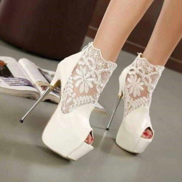 21 best White Heels images on Pinterest