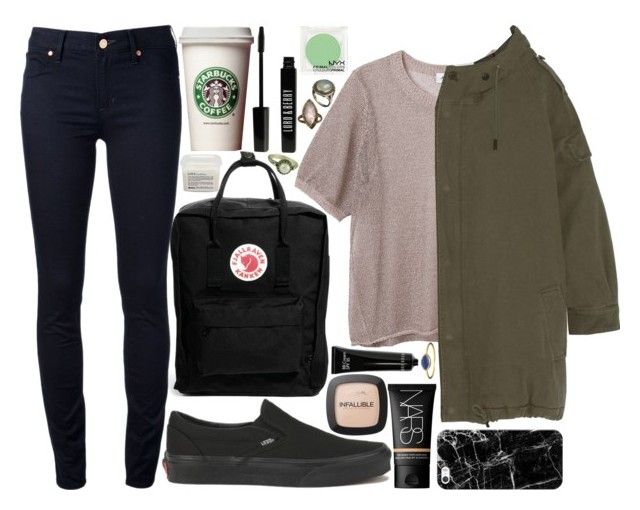 we just click by velvet-ears on Polyvore featuring Monki, Yves Saint Laurent, Marc by Marc Jacobs, Vans, Fjällräven, Alexis Bittar, Becky Kelso, Casetify, NARS Cosmetics and L'Oréal Paris