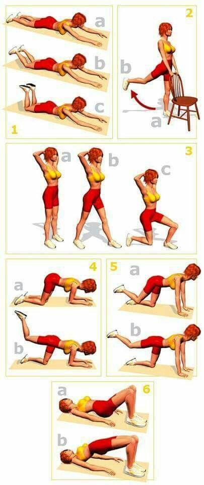 Ejercicios zona lumbar y cintura pelvica