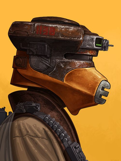 Star Wars - Boushh by Mike Mitchell *