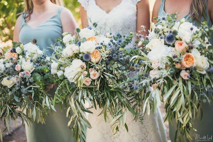 Summer Wedding Foliage Love wedding bouqet Image by Meredith Lord Photography