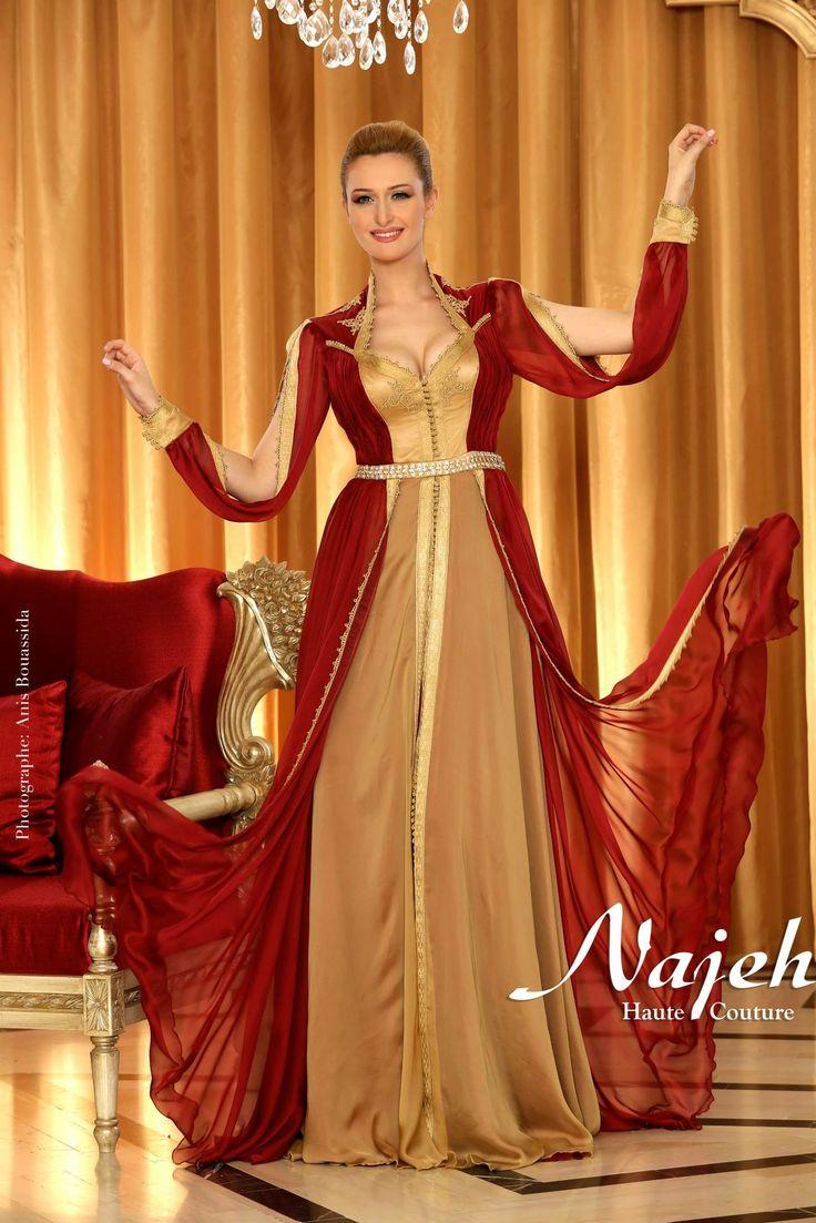Caftan tunisien habits traditionnels de tunisie for Salon de la couture