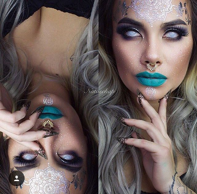 Scary gypsy make up? Halloween                                                                                                                                                     More                                                                                                                                                                                 More