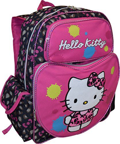 Hello Kitty Enhanced Deluxe embroidered 16 School Bag Backpack *** Visit the image link more details.