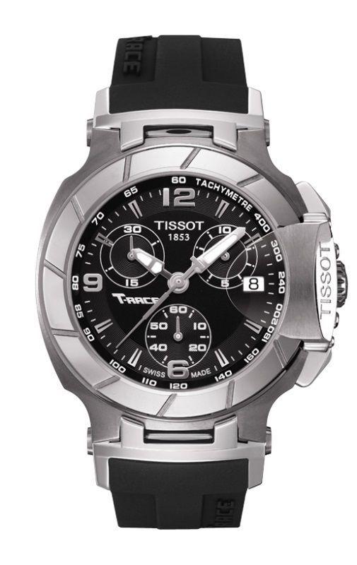 My new Tissot watch  T048.217.17.057.00 Women's T-Race Chronograph Black Rubber Black Dial
