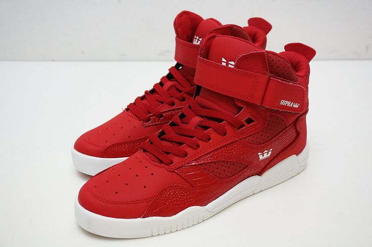 (スープラ) SUPRA ブリーカー BLEEKER CARDINAL - WHITE 9 ハイカット メンズ スニーカー 靴 ベルクロ 赤 レッド RED S02108