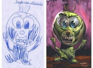 The Monster Engine, scarabocchi di bambini che diventano reali.