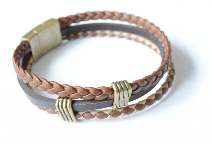 Bracelet homme cuir à faire soi meme DIY Bracelet homme