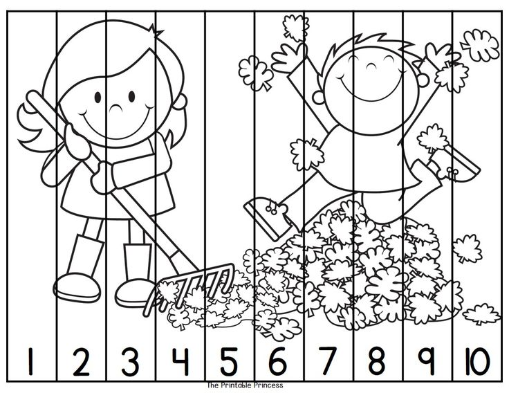 Great for fine motor cutting skills... and counting practice! Color and black and white included. Also includes puzzles for #11-20 and counting by 10's.