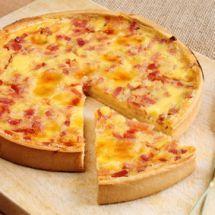 Tarte chèvre et jambon de bayonne sur Recettes.net