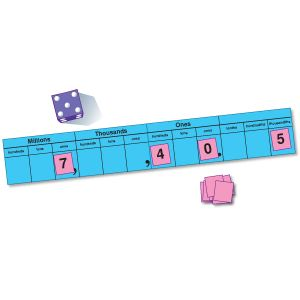 Math Game: place value game from   The Mailbox (r)