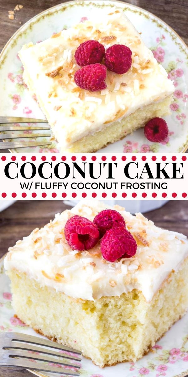 Coconut Cake with Fluffy Coconut Frosting