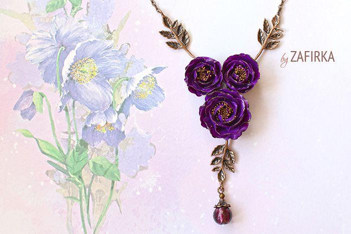 Пионы фиолетовые