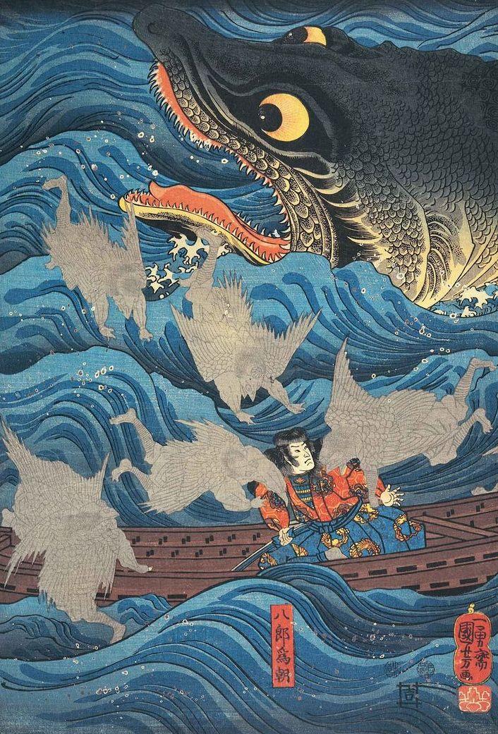 Woodblock print. About 1840s, Japan, by artist Utagawa Kuniyoshi (1797-1861)