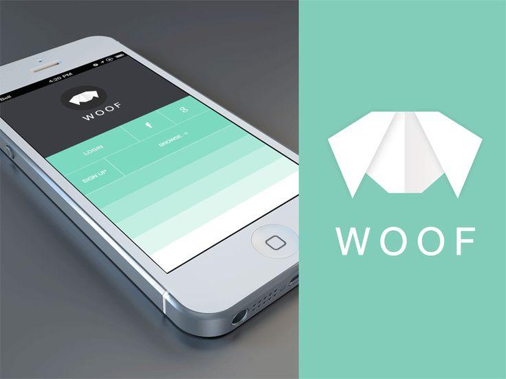 Dribbble - Woof App + Icon + GIF by Balraj Chana #UImotion