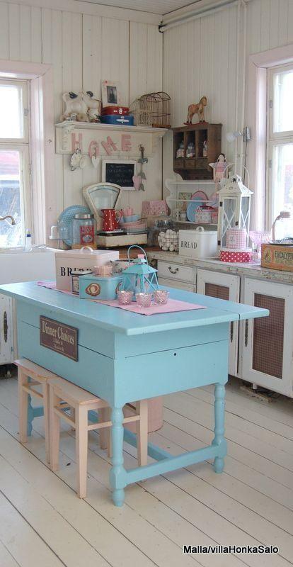 13 ideas para poner una isla en la cocina ideas para - Cocinas estilo shabby chic ...