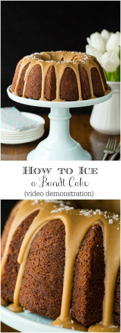 The Easy Way to Ice A Bundt Cake - an easy video demonstration for making a bundt cake look as beautiful as it tastes!