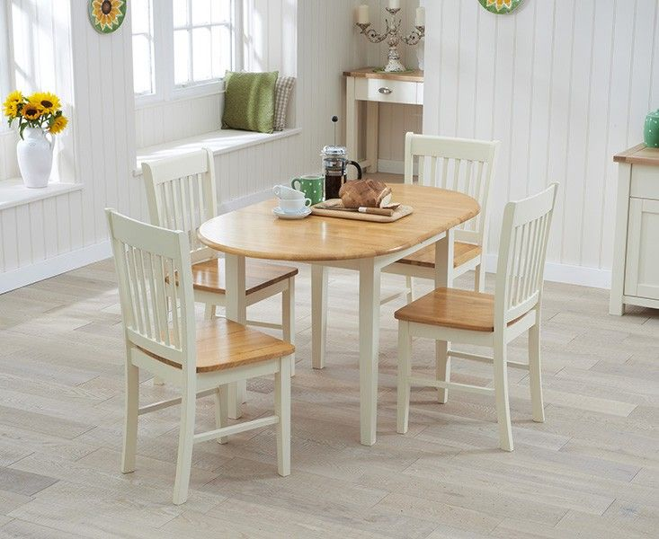 Buy the Amalfi Cream Extending Dining Table with Chairs at Oak Furniture Superstore