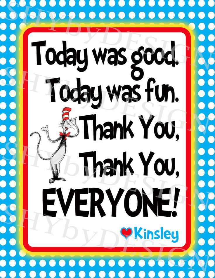 Personalized PRINTABLE Dr. Seuss Birthday Book Sign & Thank You Sign. $6.00, via Etsy.