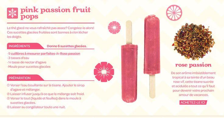 Pink passion fruit pops