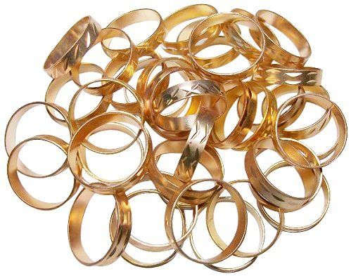 Gold Color Rings Pack of 40  What would a Hobbit Party be without rings?  Cheap, but would be fun to decorate cupcakes, or as giveaways