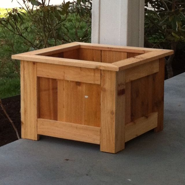 33 Best Images About Wood Planter Tree Box On Pinterest: Inexpensive Cedar Planter.